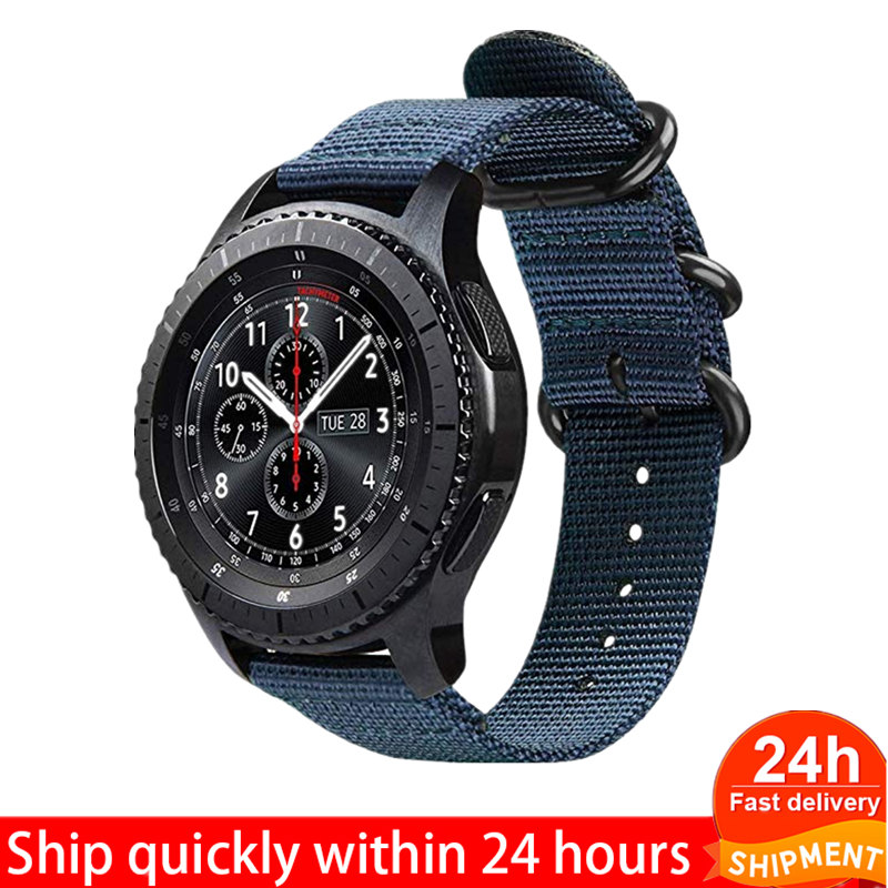 20mm 22mm Nylon Watch Band For Samsung Galaxy Watch 46mm 42mm Active 2 Band Gear S3 Classic/Frontier Strap For Active 2 44/40mm