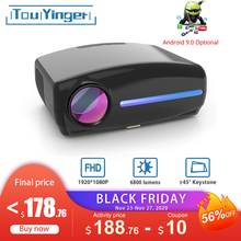 Projektor LED Touyinger S1080 C2 Full HD 1080P (4K wideo Android 9 Wifi opcjonalnie) inteligentny zestaw kina domowego AC3 200 cala 4D keystone