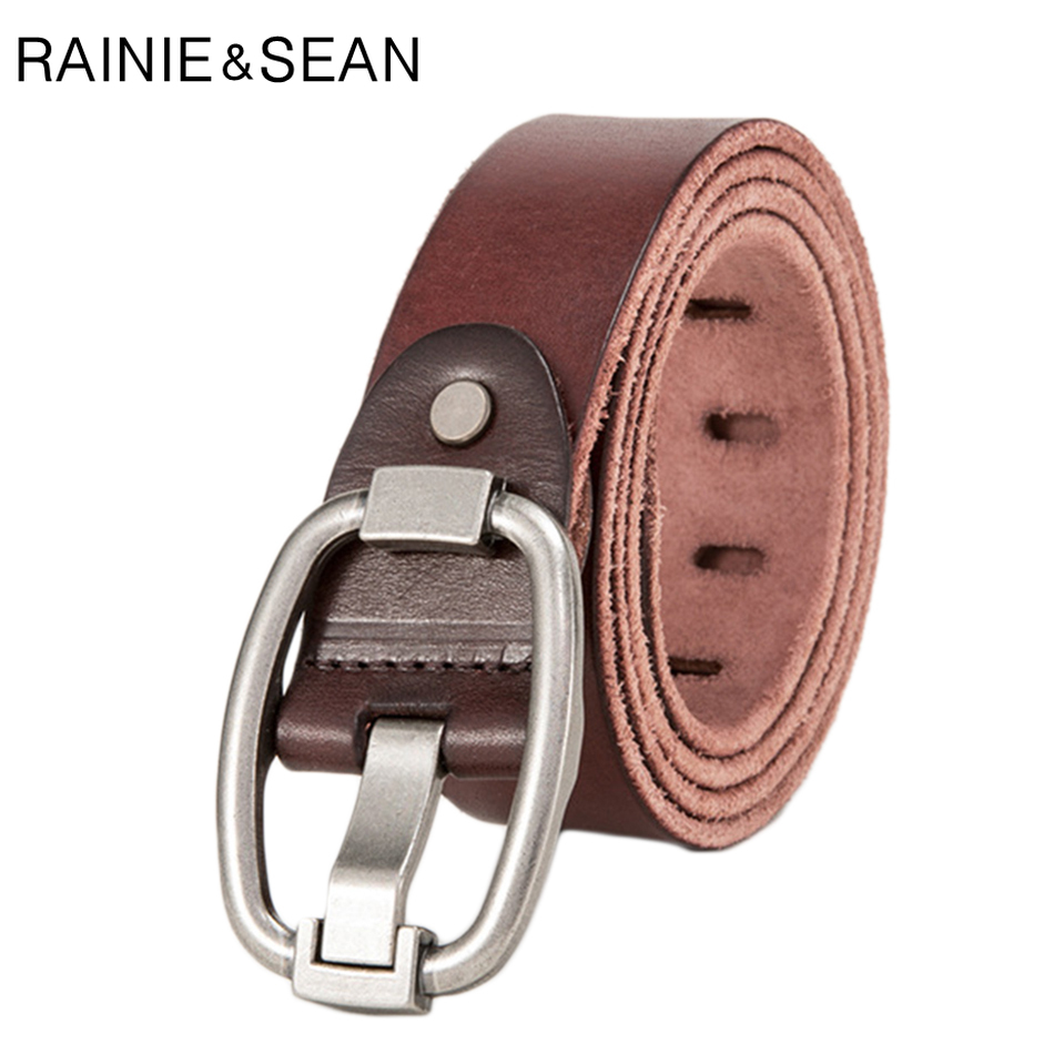 Punk Mens Belt Real Genuine Leather Reversible Designer Casual Jean Buckle Trouser