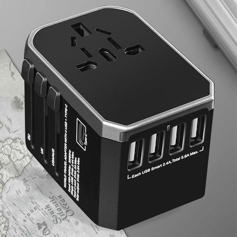 4 USB multi prise universelle adaptateur de voyage convertisseur de prise pour les états-unis