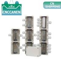 Abs caixas de junção à prova dwaterproof água conexão ao ar livre caixa de monitoramento de distribuição interna caixa gabinete elétrico com glândulas de cabo|Caixas de junção de fios| |  -
