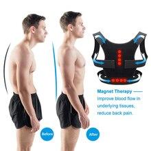 Adjustable Magnetic Posture Corrector Back Support Belt Pain