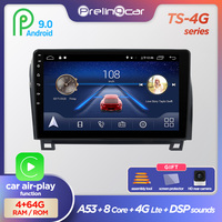 Prelingcar Android 9.0 NO DVD 2 Din Car Radio Multimedia Video Player Navigation GPS For Toyota Tundra 2007 13 Sequoia 2008 18