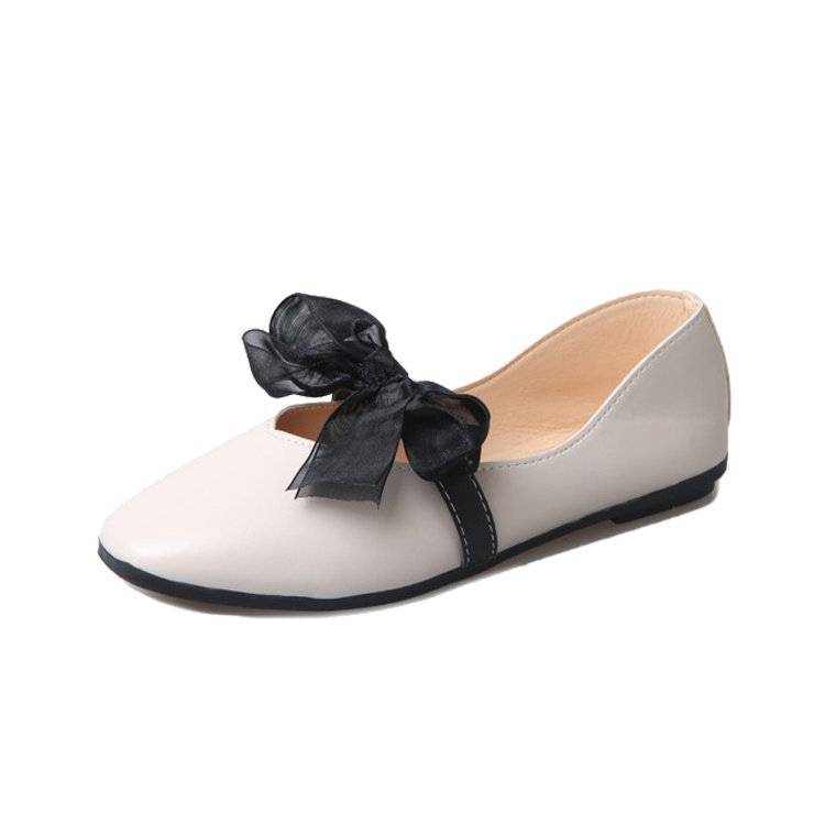 2019 new flats women shoes all-match butterfly-knot shallow low heels tod shoes