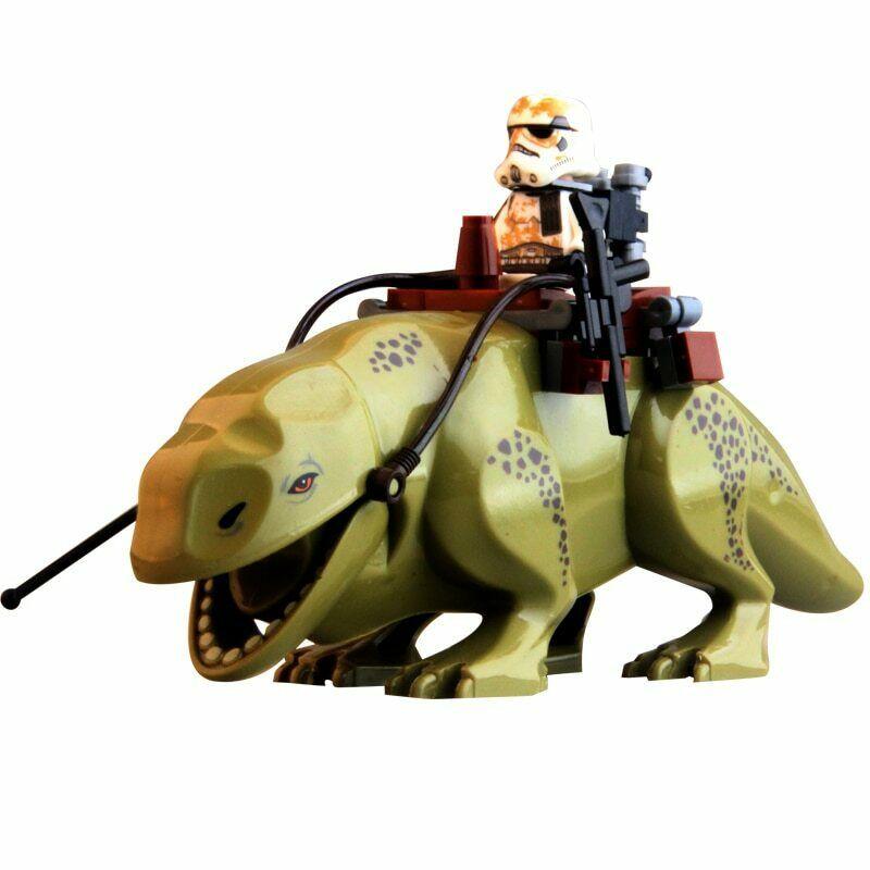 Star Wars Dewback The Force Awakens Transparent Trooper Legacy Jabba's Rancor Figure Blocks Action Bricks Toys For Children