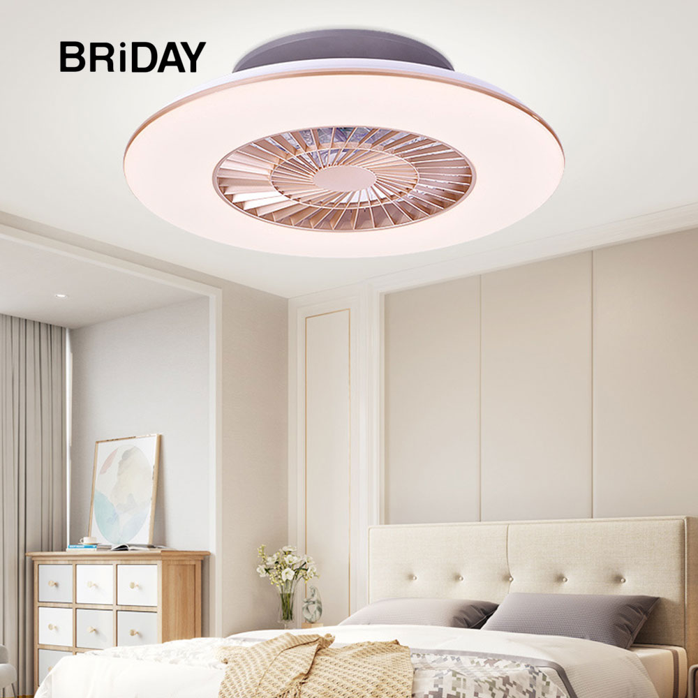 Ultra-thin Bedroom Decor Led Ceiling Fan With Lights Remote Control Lamp Invisible Simple Modern Fans Lamps Dimmable Ventilator