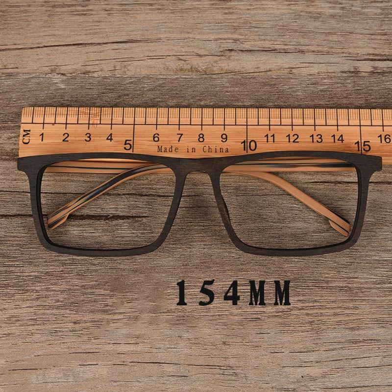 Vazrobe Oversized Eyeglasses Men Fake Wood Acetate Glasses Frame Man Myopia Eyewear Spectacles For Prescription Photochromic