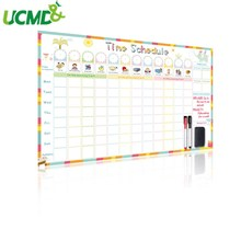 Magnetic Daily Planner Time Schedule Kids Reward Chart with