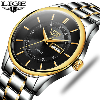 LIGE New Men Watches Top Brand Luxury Fashion Business Quartz Camouflage Watch Men Sport Waterproof Date Clock Relogio Masculino 1