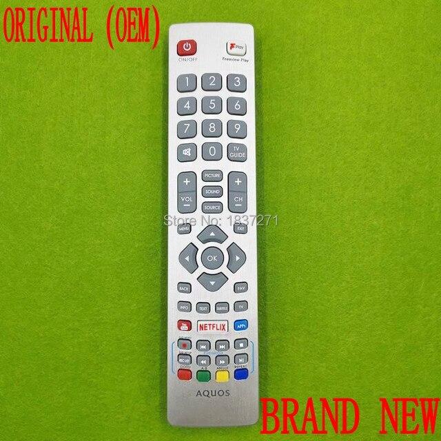 الأصلي التحكم عن بعد SHWRMC0129 SHWRMC0121 لشارب LC50CFG6001KF LC 50CFG6001KF LC50CFG6002KF quos تلفاز LED ذكي