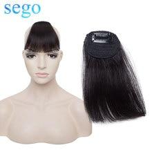 SEGO + прямые + 100% 25 + натуральные + натуральные + волосы ++ маленькие + короткие + спереди + челка + не Реми + клип + в + воздухе + тупой + челка + бахрома + волосы + наращивание