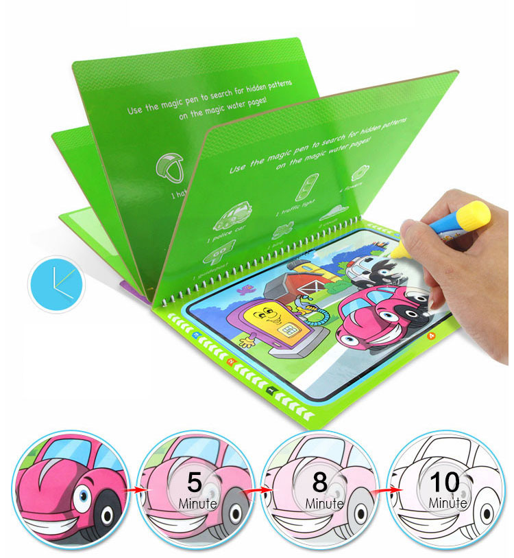 Magic Water Drawing Books Coloring Book With Water Pen Painting Drawing Board Educational Toys For Children Gift