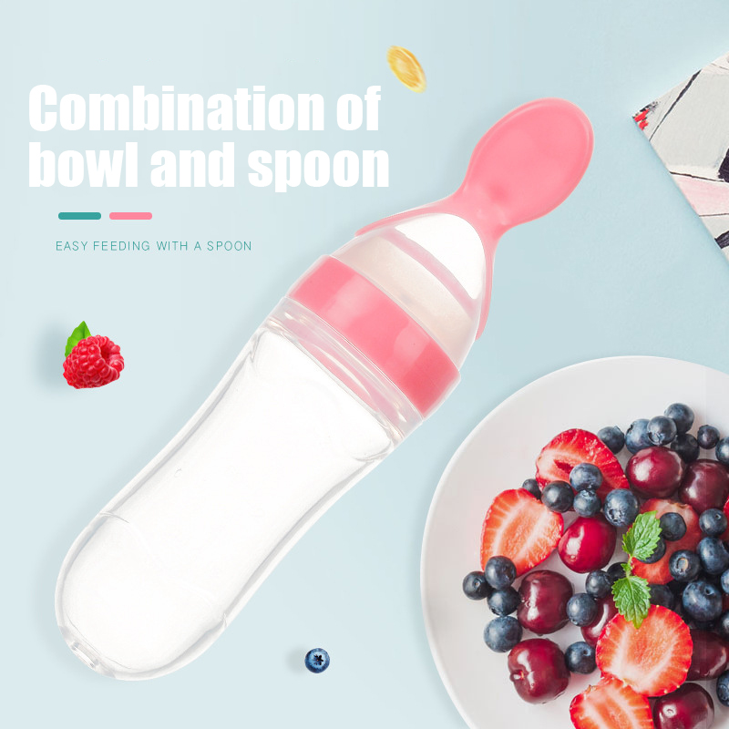 Baby Spoon Bottle Feeder Dropper Silicone Spoons For Feeding Medicine Kids Toddler Cutlery Utensils Children Accessories Newborn