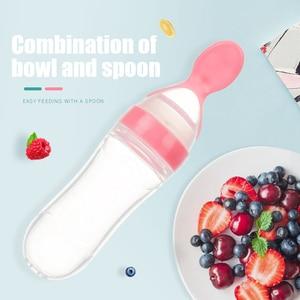 Image 1 - Baby Spoon Bottle Feeder Dropper Silicone Spoons for Feeding Medicine Kids Toddler Cutlery Utensils Children Accessories Newborn