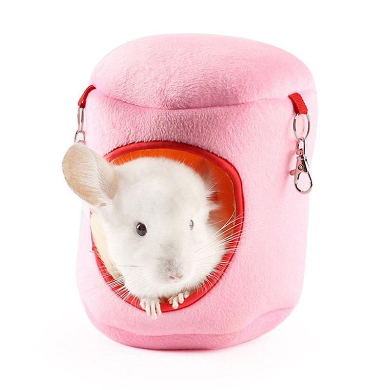 Winter Warm Plush Cloth Pet Hamster Hammock Guinea Hanging Bed Cage Home House