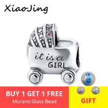 925 Sterling silver Baby's Love Car Fit Authentic Silver Pandora Bracelet european  Charm Bracelet Antique Beads Jewelry Gifts fit authentic pandora bracelet jewelry 925 sterling silver beads bound by love just married charms beads luxury love gifts