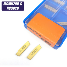 10PCS MGMN200 G NC3020 2mm grooving carbide inserts MGMN200-G lathe cutter turning tool Parting and grooving tool