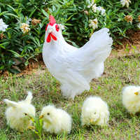 4Pcs/Set Realistic Furry Baby Chick Simulation Animal Toy Lifelike Chicken Animal Spring Easter Gift Different Actions