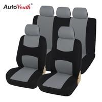 Tampas de assento do carro frente par em preto e cinza universal carseat protetores para motorista e passageiro acessórios automotivos|Capas p/ assento de automóveis| |  -