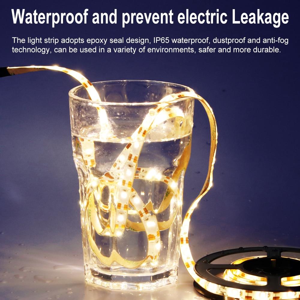 USB 5V LED Strip Light 2835SMD 60Leds/M Bar Flexible Light Home IP65 Waterproor Strip Light Indoor Lamp 0.5M 1M 2M 3M 4M 5M