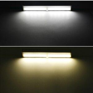 Image 3 - LED תנועת אוטומטי אור חישה לילה אור עבור חנות בגדי 3M דבק קלטת מנורת מלתחה
