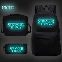 Stranger Things Luminous School Bag Backpack Purse Back To School Bag for Teenage Girls Boy Canvas Travel Shoulder Bags Rucksack