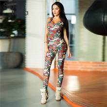 Sisterlinda Striped Print Sexy Bodysuit Overalls Bodycon Striped Sleeveless Rompers Women Jumpsuit Casual Sporting Suits Mujer