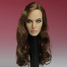 1/6 Scale T-10 Women Actress Angelina Jolie Head Sculpt Carving Female Long Hair Model for 12