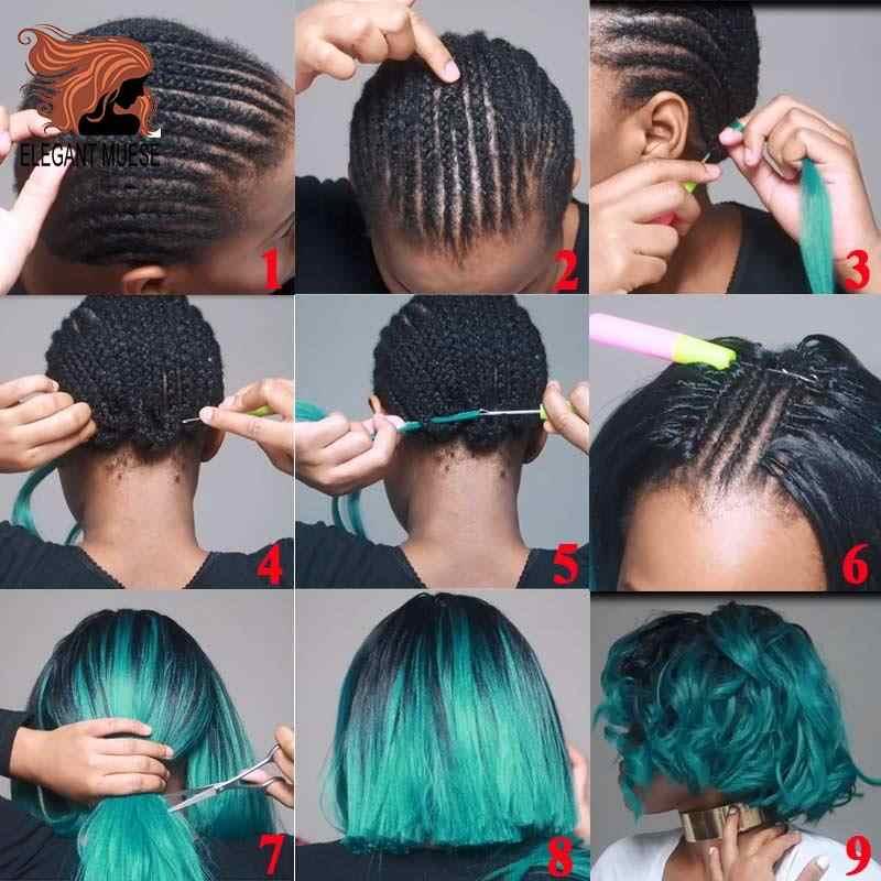 ELEGANT MUSES 6 Pcs  Synthetic Hair Braids Ombre Crochet Braiding Hair Extension Box Braids Hair 24inch 100g Jumbo Braid