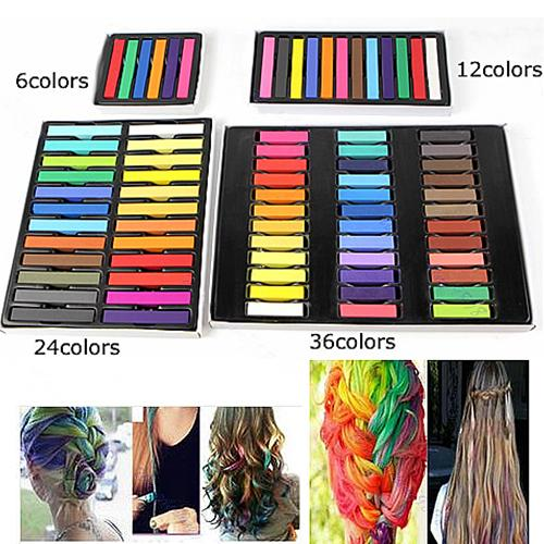 Hair Chalk Colors Hair Color Crayons Powder Temporary Dye Multicolor Paint Disposable Beauty Soft Pastels Festival Salon