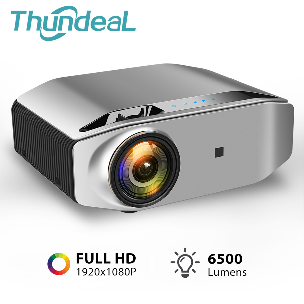 ThundeaL Full HD Native 1080P Projector TD96 Projector 6500Lumens LED Wireless WiFi Multi-Screen Beamer 3D Video Proyector(China)