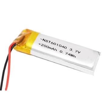 3 7V 200 mAh litowo-polimerowa bateria Li po Liion cell 601040 dla odtwarzacza muzycznego GPS Pen Sat nav samochód DVC kamera DVR tanie i dobre opinie monkeystick 0-1300 mAh Kompatybilny