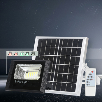 LED solar FloodLight 25W Reflector LED Flood Light IP67 Spotlight Wall Outdoor Lighting Warm Cold White with Remote Controller 4 modes led flood light 20w cold white usb rechargeable led reflector portable ip44 projecteur led spotlight camp tent lighting