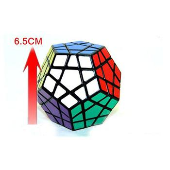 GloryStar Shengshou Megaminx Brain Teaser Magic Cube Speed Twisty Puzzle Toy Black shengshou cube 2 x 2 x 2 mini cube black base fun educational toy