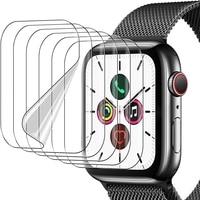 Protector de pantalla para Apple Watch Serie 6 iwatch SE, película de tpu suave para Apple Watch 6 5 4, película de vidrio templado, 44mm, 40mm