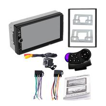 2 Din MP5 Player 7 Inch LCD Touch Screen Auto FM Radio Video Player Music Audio With USB Support Rear Camera(China)