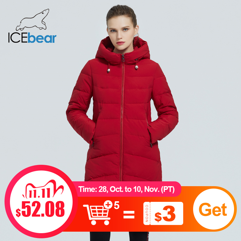 icebear 2020 зима длинное пальто женская классическая хлопковая куртка высокого качества женская одежда с капюшоном GWD20101I|Парки| | АлиЭкспресс