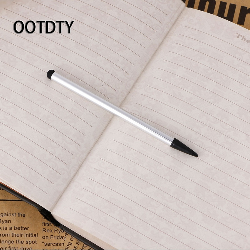 OOTDTY 2-In-1 Capacitive Resistive Touch Screen Stylus Pen For Tablet Phone