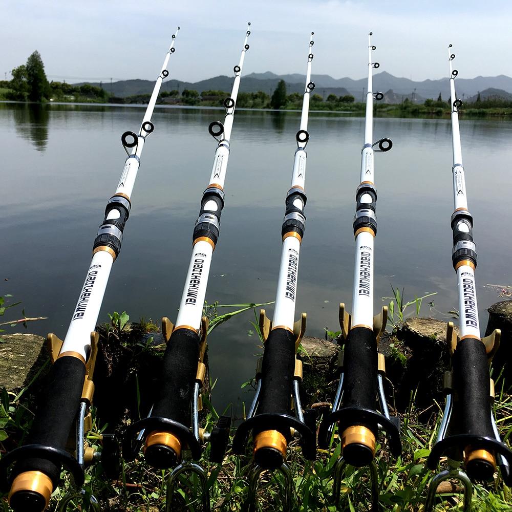 Canne à pêche télescopique Mer en carbone FRP , 2.4 à 3.2 m