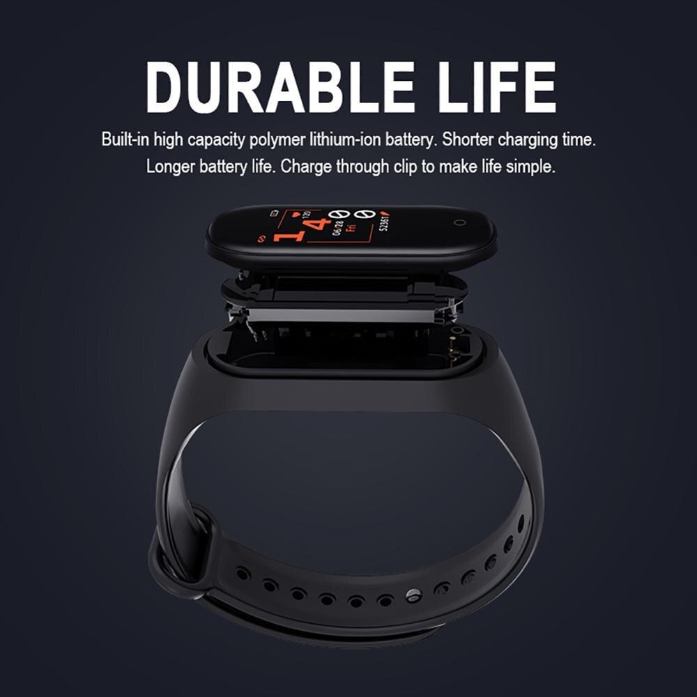 Bluetooth M4 смарт-браслет водонепроницаемые часы измерение артериального давления монитор сердечного ритма фитнес-трекер Смарт-браслет PK M3 Plus 4