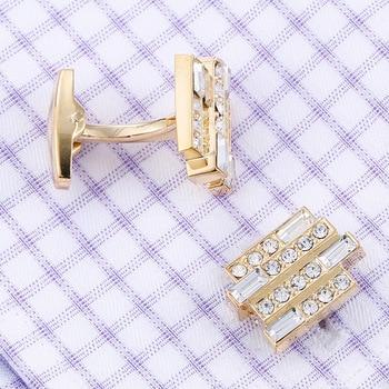 High-end Luxury Men's French  Crystal Cufflinks  4