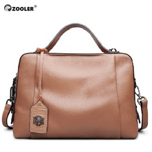 ZOOLER Genuine Leather Hand Bags For Women 2019 Luxury Handbags Designer Boston Casual Shoulder Bag Sac a Main 8119