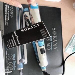 Image 3 - Max 750f pro titânio placa flutuante alisador de cabelo ferro liso profissional rápido alisamento elétrico lcd digital 100 240v