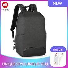 цена Tigernu 2019 New Design RFID Man Backpack Fit 15.6 inch Laptop Backpack Schoolbag splash Proof Male Bag Anti Thief Mochila онлайн в 2017 году