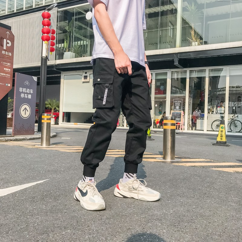 INS Super Fire Bib Overall Men Popular Brand Aberdeen Trend Loose-Fit Literature And Art Ulzzang Casual Pants MEN'S Trousers