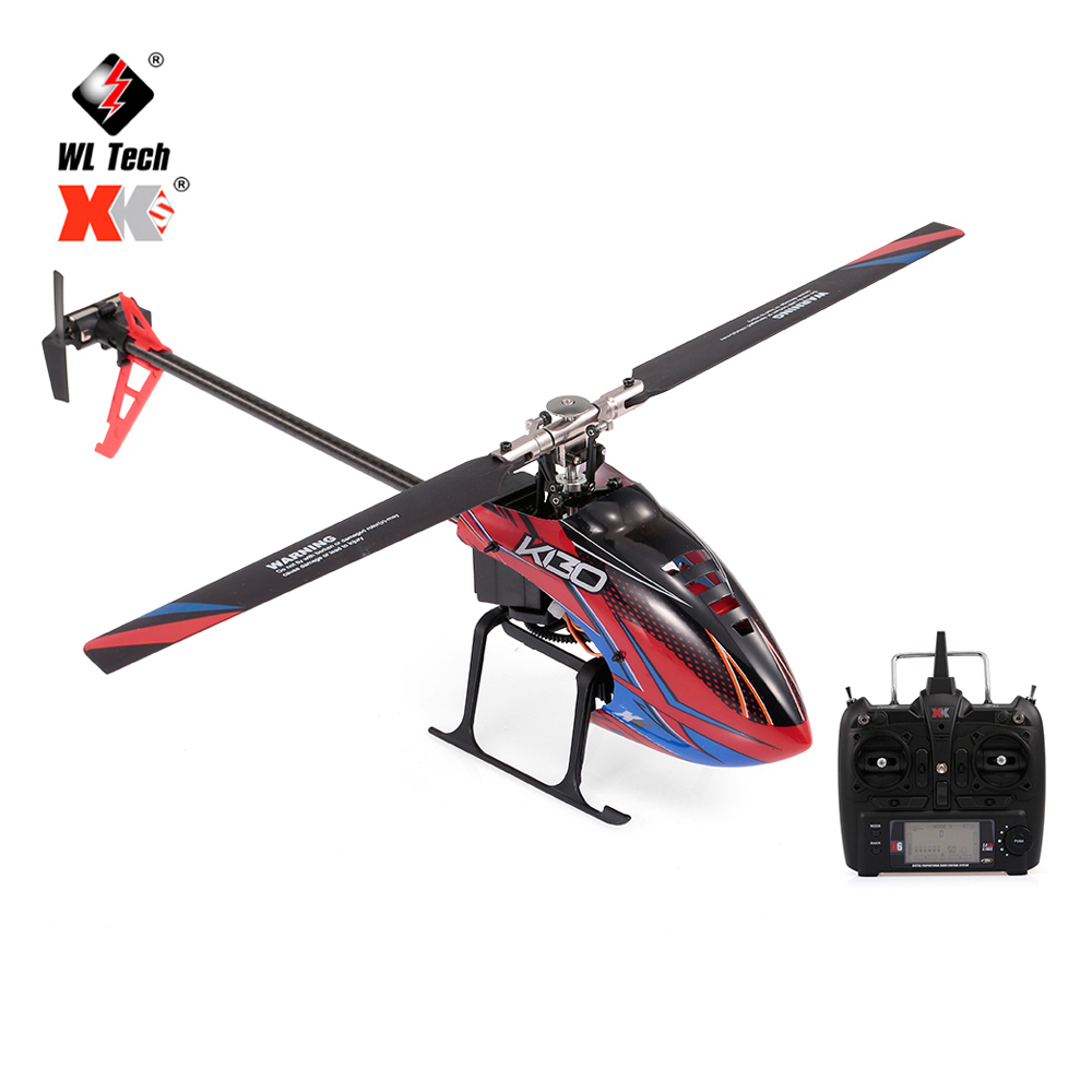WLtoys XK K130-B RC Helicopter Brushless 3D6G Flybarless S-FHSS Stunt Remote Control Helicopter Toy With 3 Batteries