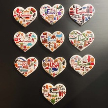 Fridge-Magnet-Souvenir Portugal Usa-England Elements National France Germany Russia Tourism