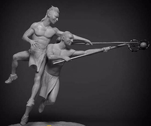 1/24 75mm   ancient stand warrior and play   Resin figure Model kits Miniature gk Unassembly Unpainted