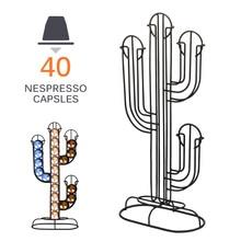 Новинка 40 держатель для кофейных капсул из нержавеющей стали для капсул Nespresso вращающийся стеллаж для хранения для дома