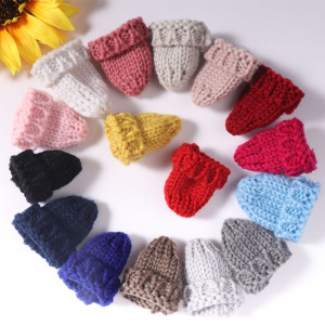 6Pcs Cute Knitting Mini Hats D